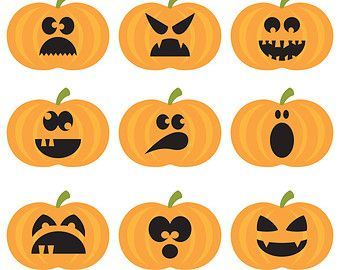 halloween pumpkins digital clipart halloween clipart pumpkins rh pinterest com halloween pumpkin clipart png cute halloween pumpkin clipart