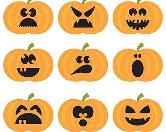 Halloween Pumpkins Digital Clipart. Halloween Clipart. Pumpkins ...