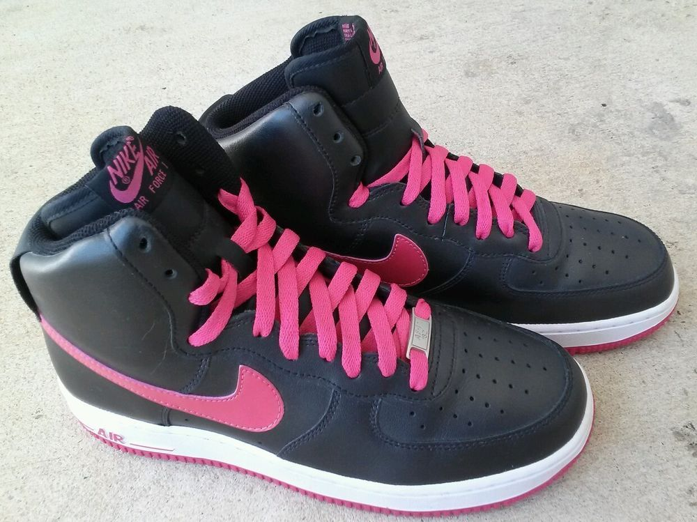 Womens Black Nike High Top Sneakers