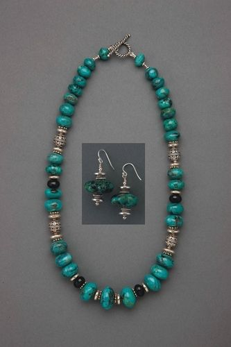 Turquoise Celebration Necklace and Earrings