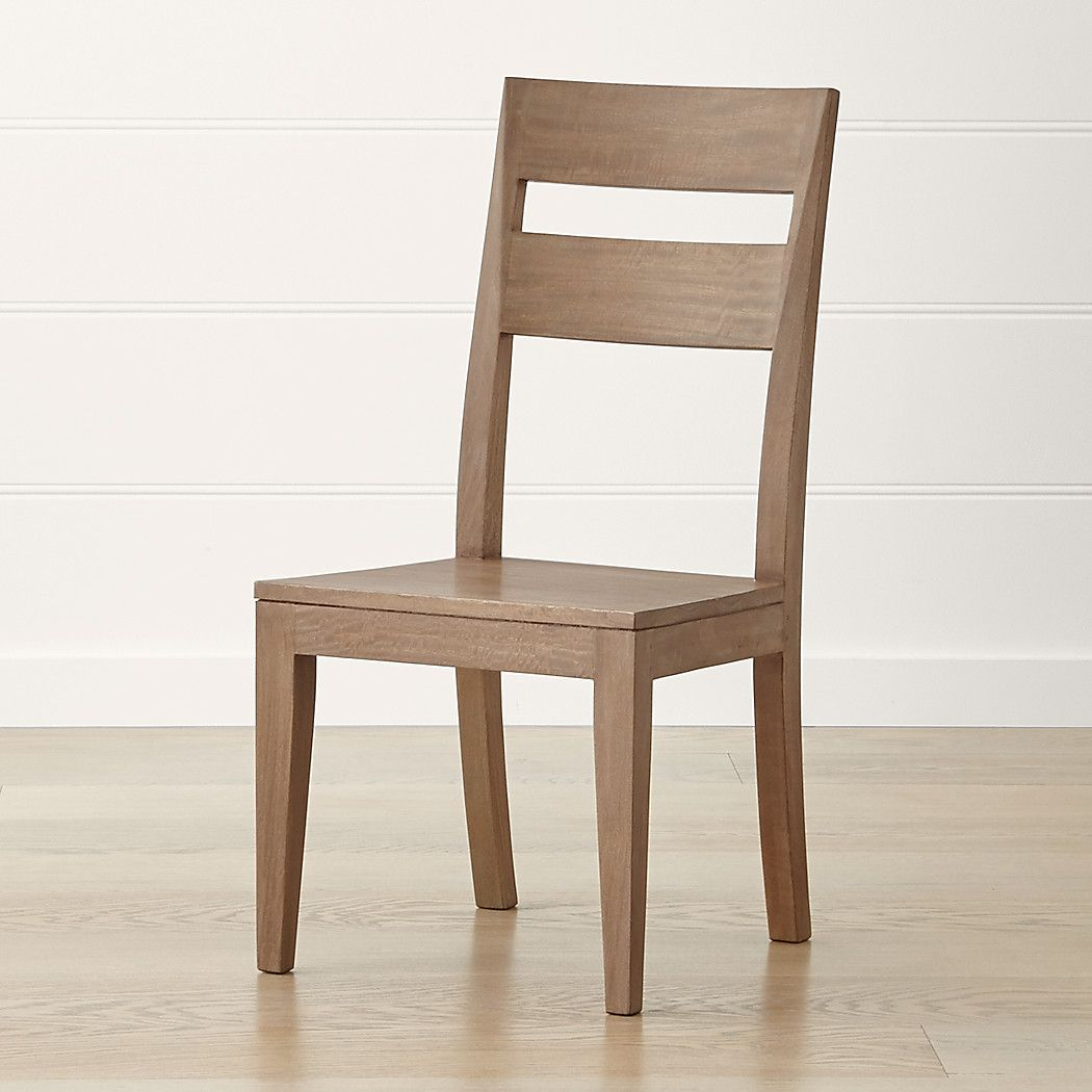 Basque grey wash side chair reviews crate and barrel