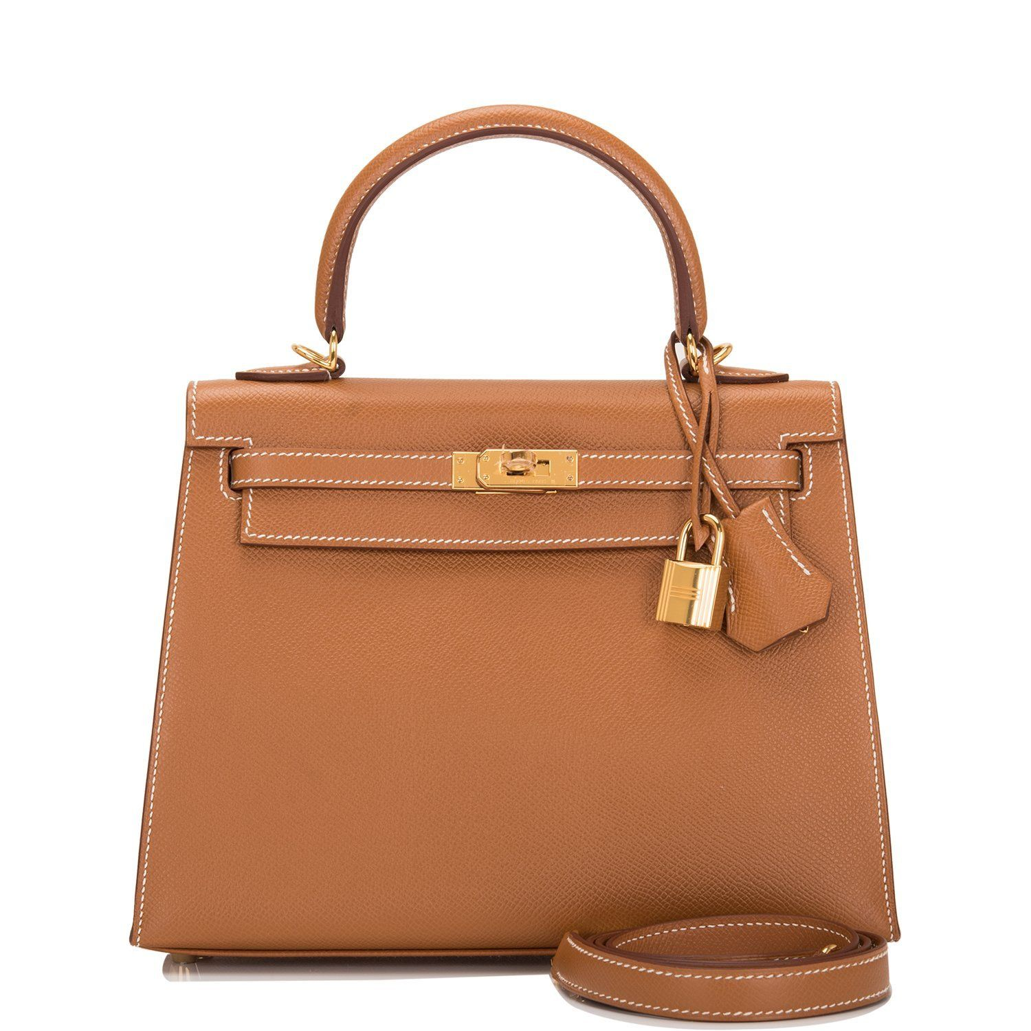 58f871e1c7b8 Hermes Gold Epsom Sellier Kelly 25cm Gold Hardware in 2019 ...