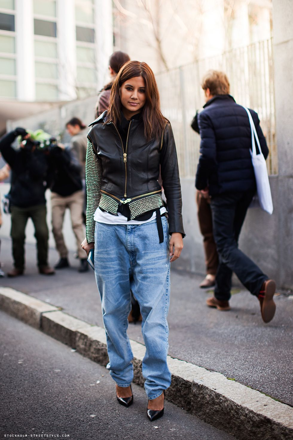 bomber & boyfriends. Ceec in Milan. #ChristineCentenera