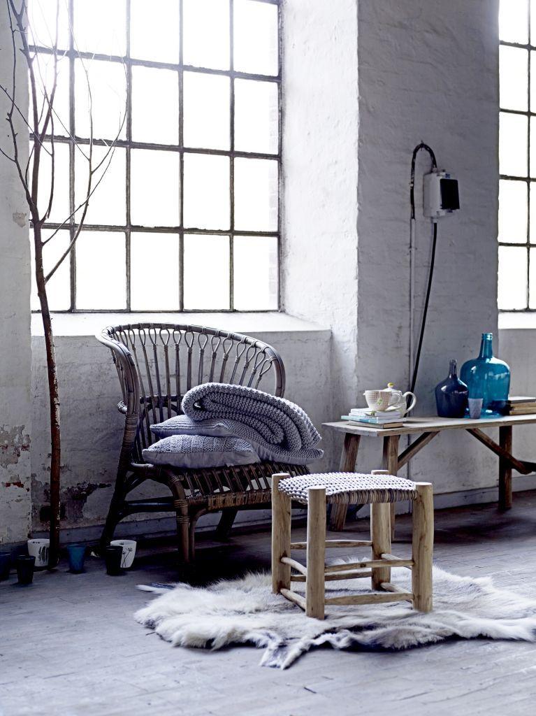 Pletený povlak na polštář Grey 50x50 | Bella Rose