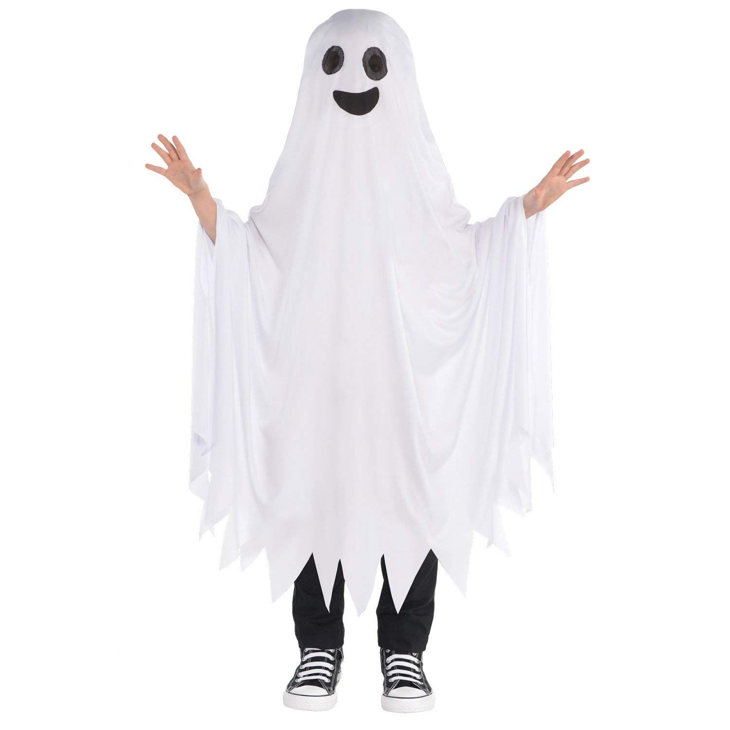 Crazy Ghost Costume Halloween Spirit Ghoul Fancy Dress Outfit Adult one size