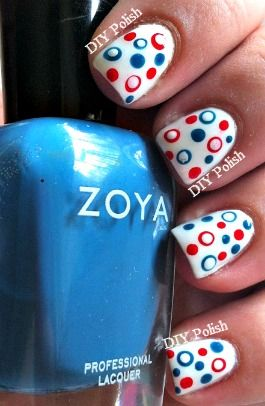 4th of July Nail Art with Zoya Purity, Zoya Sooki and Zoya Breezi!
