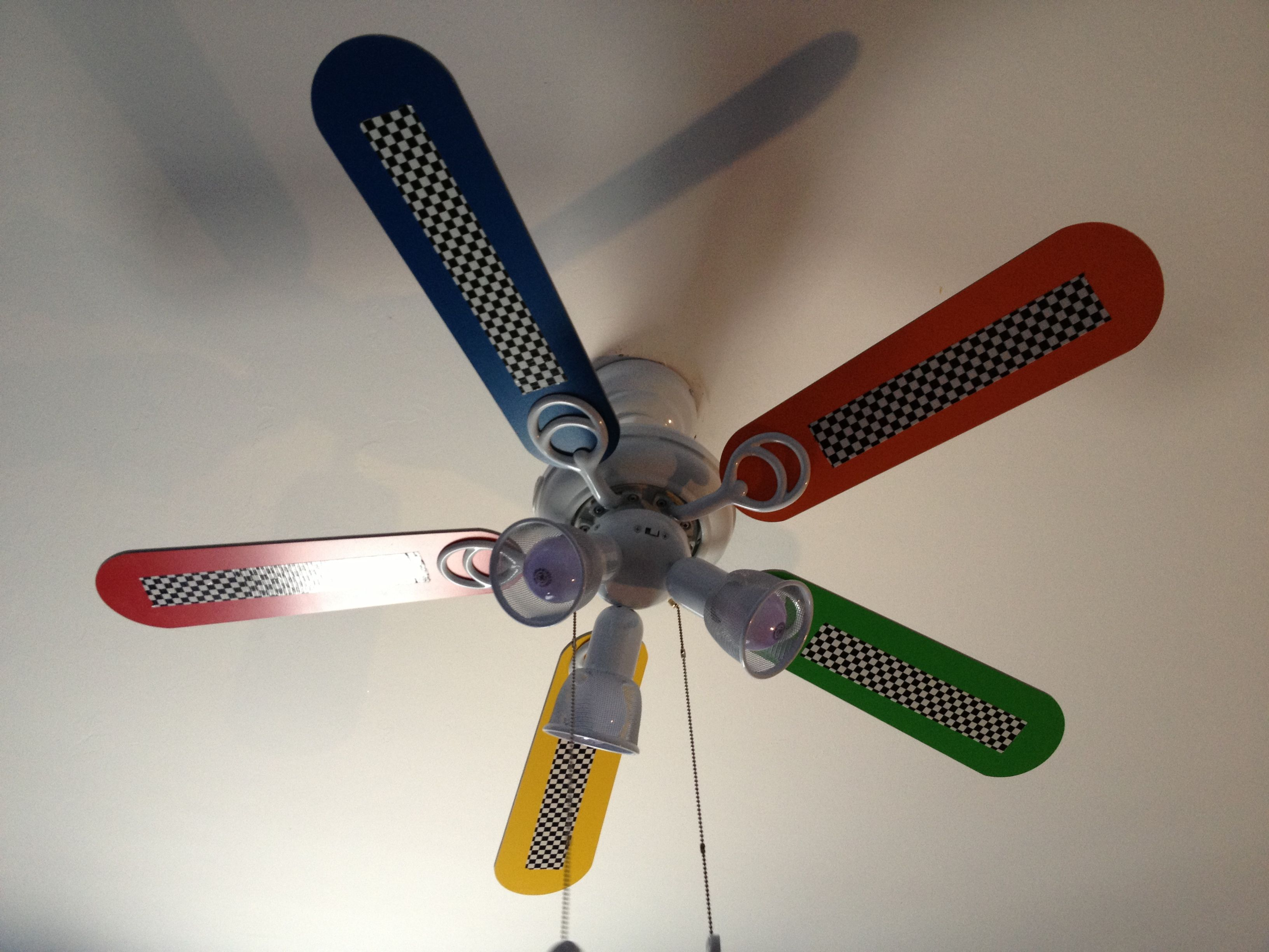 Race car bedroom duct tape fan my pinterest projects completed race car bedroom duct tape fan aloadofball Image collections