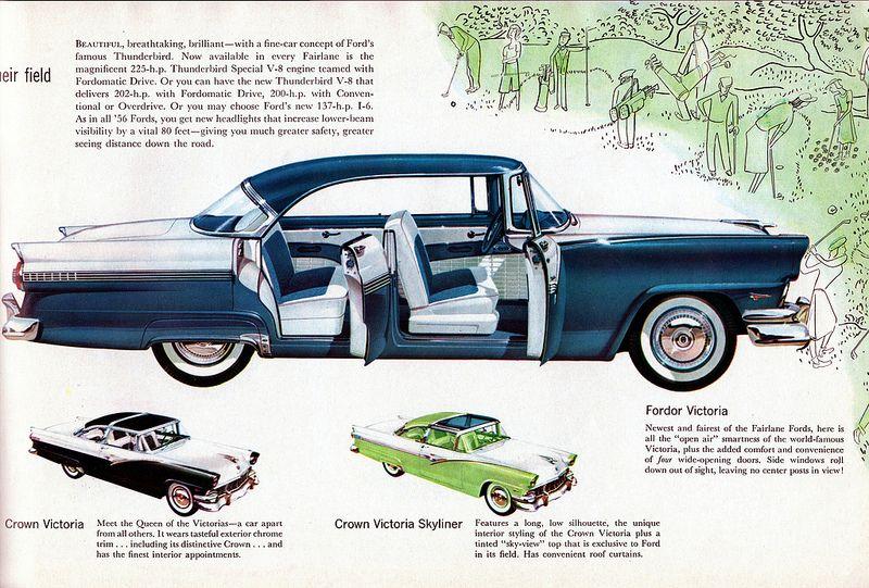 1956 ford fairlane fordor victoria ford fairlane