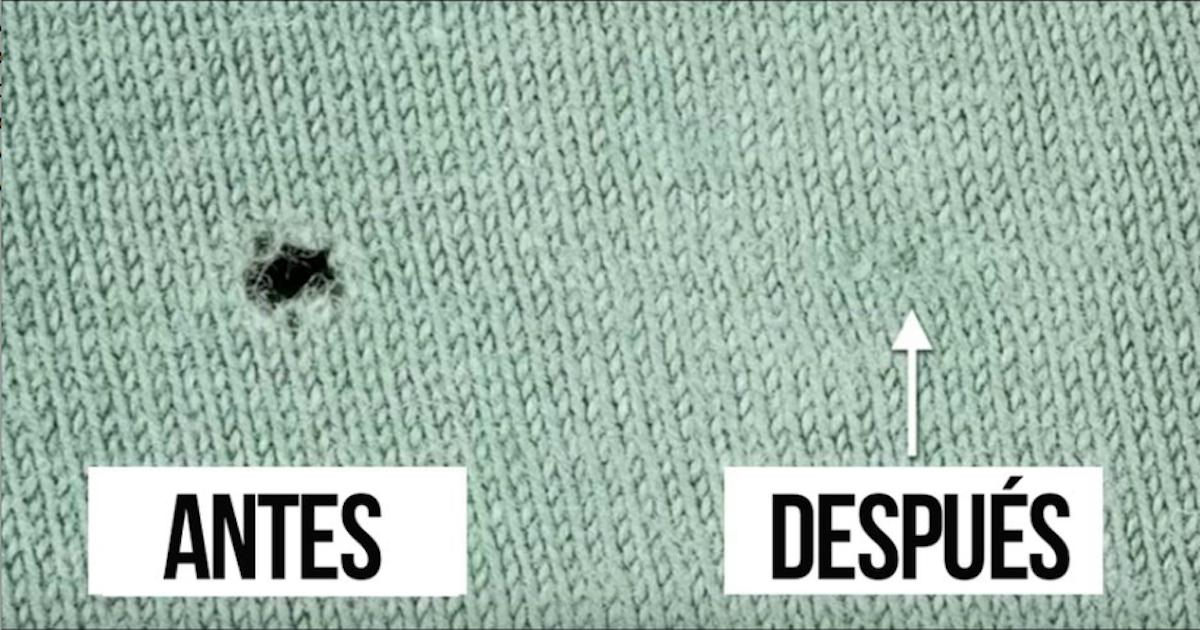 Tu Sueter Favorito Tiene Un Agujero Olvida El Hilo Y La Aguja Y Tan Solo Aprende Este Truco Brillante Consejos Para Coser Trucos Para Coser Como Coser