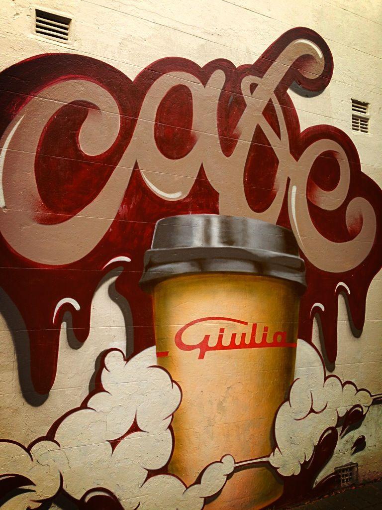 Coffee graffiti coffee