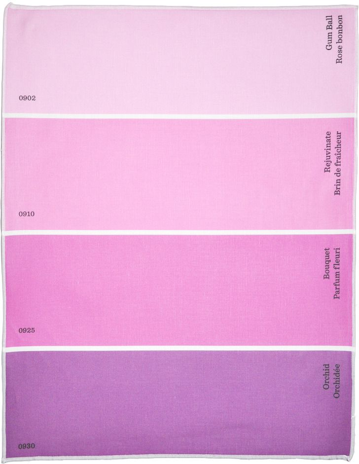 W Color Names In English French These Paint Chip Place Mats Are Made