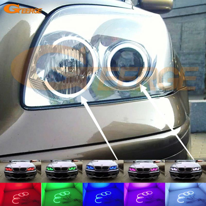 For Toyota Avensis T25 2003 2004 2005 Excellent Multi Color Ultra Bright Rgb Led Angel Eyes Kit Halo Rings Toyota Avensis Car Lights Led Angel Eyes