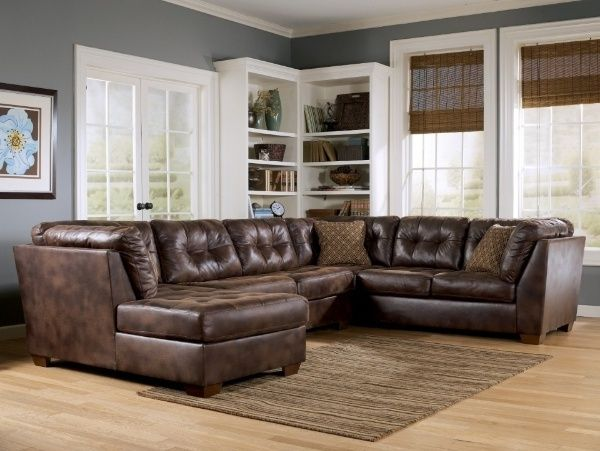 Attractive Furniture:Rustic Sectional Couch Rustic Leather Sectional With Chaise