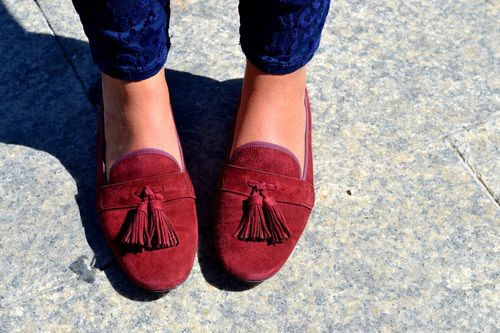 Cute red loafers