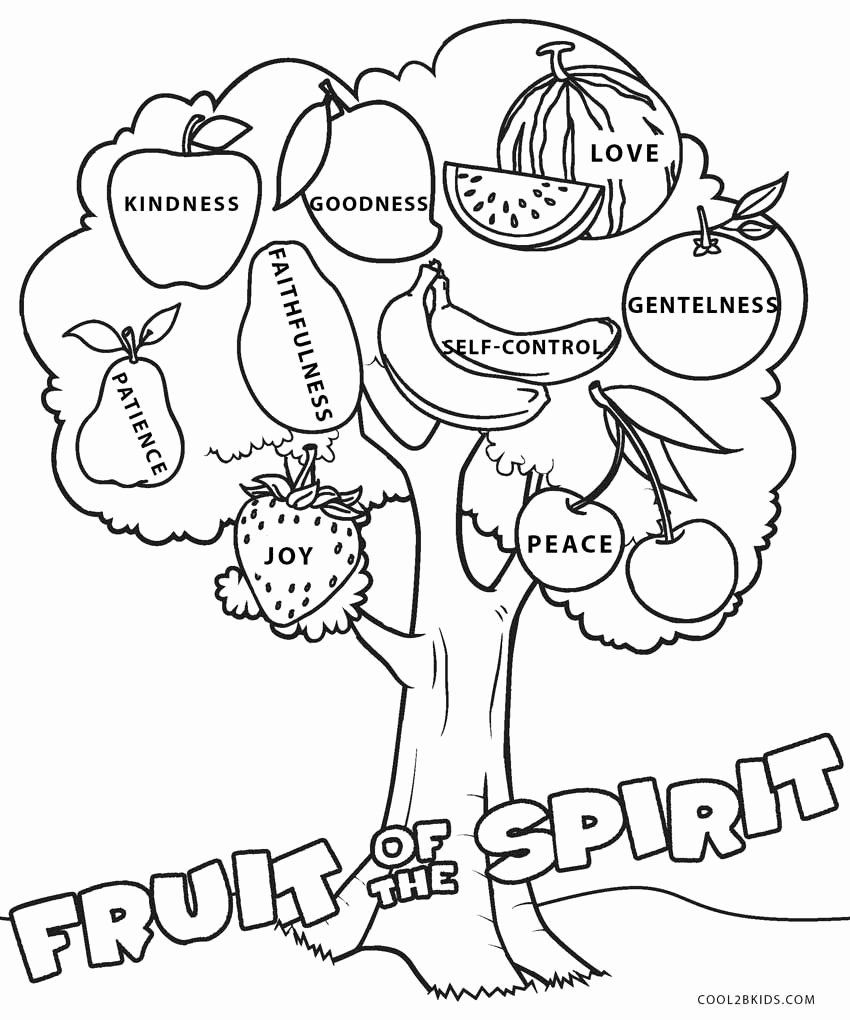 Fruit Of The Spirit Coloring Pages Beautiful Free Printable Fruit