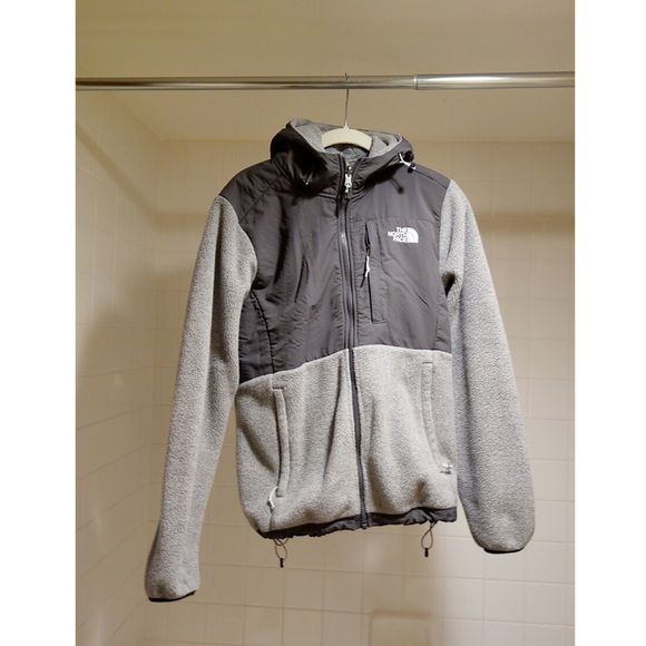 North Face Denali Full Zip Hoodie North Face Denali Full Zip Hoodie fleece jacket. Two tone grey. Size medium. Excellent condition! North Face Tops Sweatshirts & Hoodies