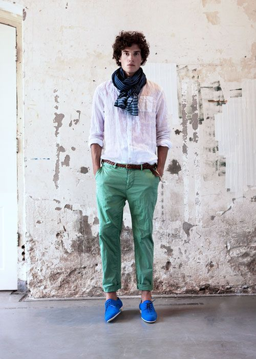 f508939dff5 Royal Blue shoes work so well with these sea green pants