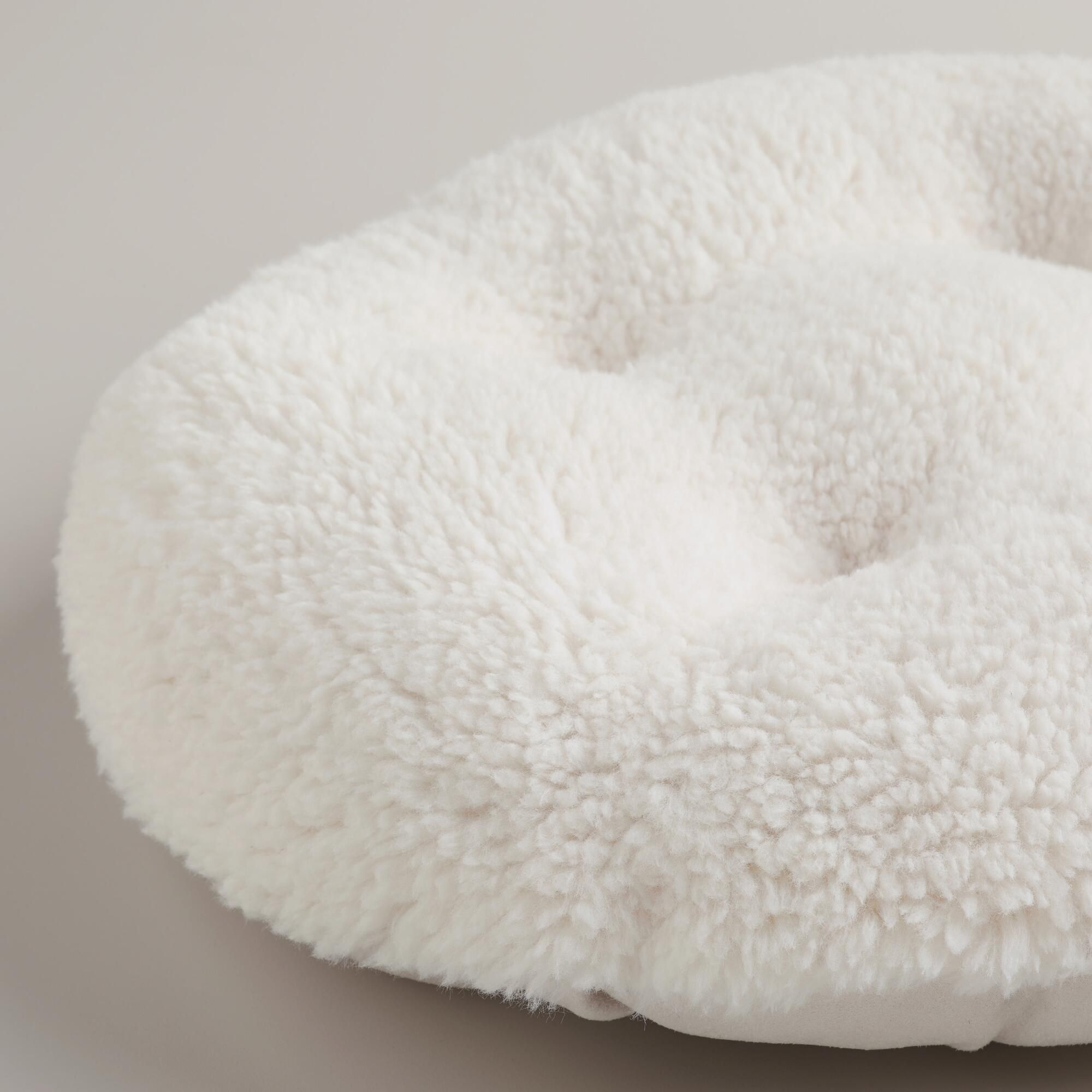 Ivory Faux Fur Papasan Stool Cushion Stool Cushion Papasan Chair Cushion Cushions