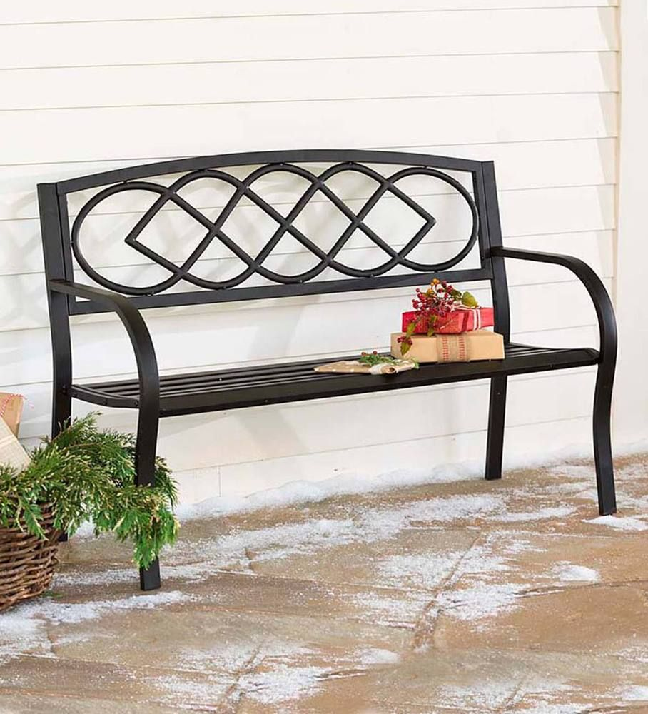 Celtic Knot Garden Bench Steel Frame With Cast Iron 400 x 300