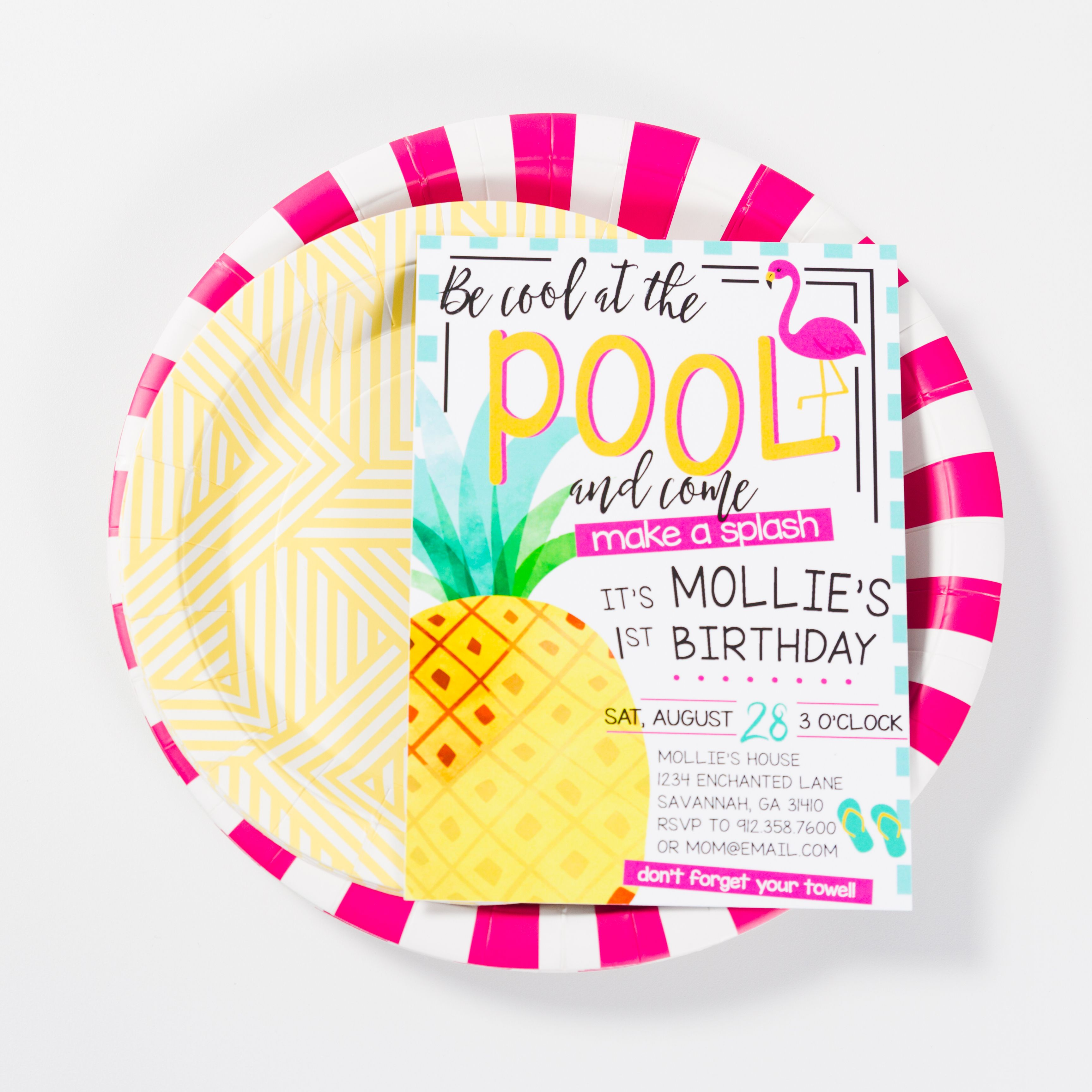 Pool Party Invitation Pool Party Invite Tropical Birthday