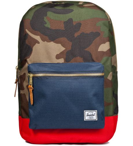 HERSCHEL SUPPLY CO. Woodland Camo Navy Red Settlement Backpack ... a3599243ab483