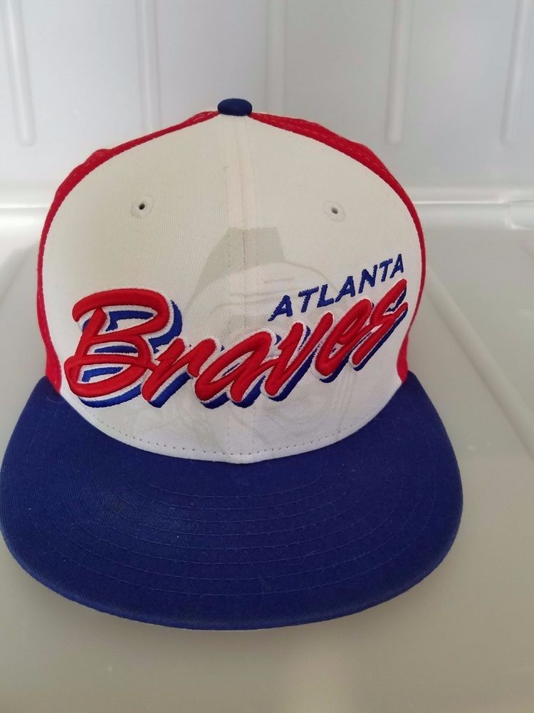 MLB Atlanta Braves Script Cap New Era Cooperstown Collection ... be7e5306fc2
