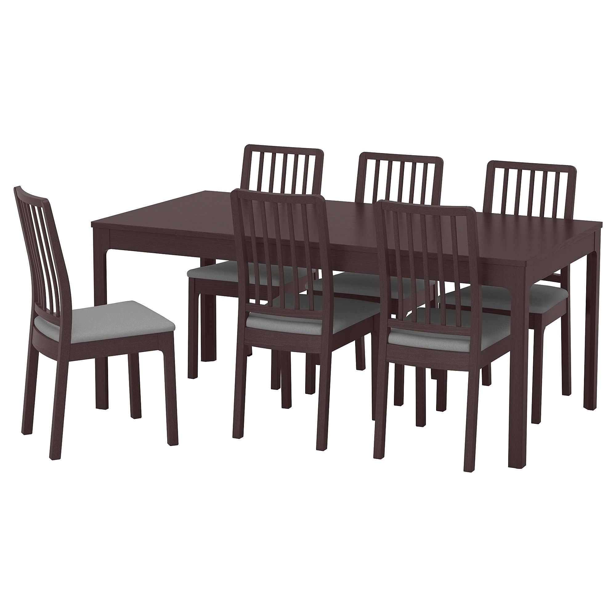 Ekedalen Ekedalen Table And 6 Chairs Dark Brown Orrsta Light Gray 70 7 8 94 1 2 With Images Ikea Dining Sets Ikea Dining Dining Room Sets