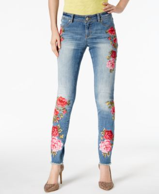 df3e67b4eafe INC International Concepts Petite Embroidered Skinny Jeans, Created ...