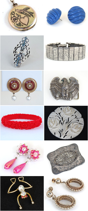Just some of the items from my Vintage Jewelry shop on Etsy