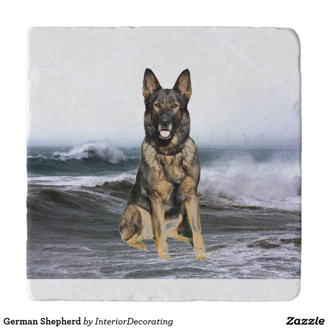 German Shepherd Trivet Zazzle Com German Shepherd German Shepherd Puppies Shepherd