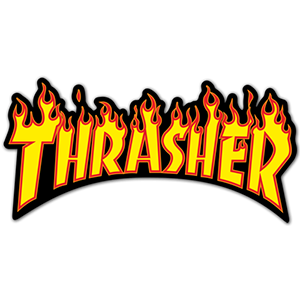 Thrasher Flame Logo Skateboard Stickers Brand Stickers Cool Stickers