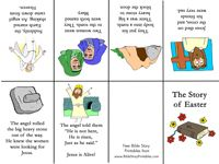 Story of Easter mini-book to print in color or black and white ...