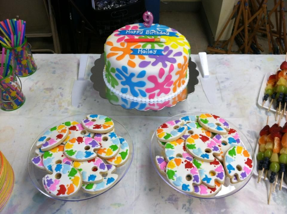 Artist Themed Cake : Art party Hailey s painting theme to go with the Cake and ...