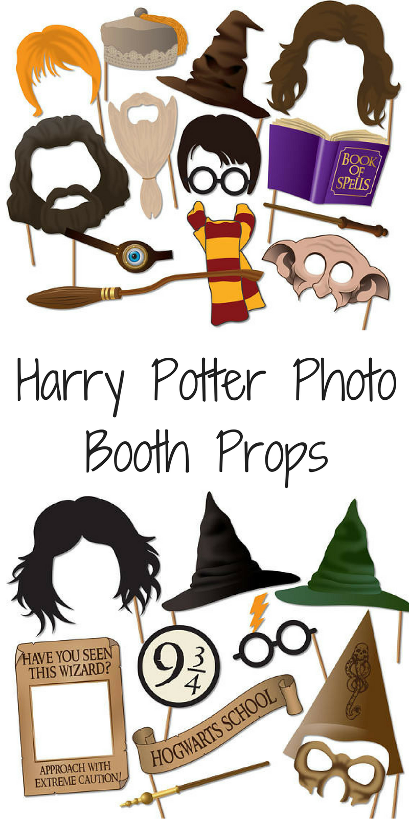 picture regarding Harry Potter Printable Props named Pritnable Harry potter image booth props, ideal for a