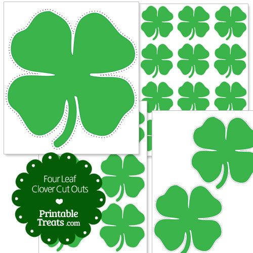 photograph relating to Printable 4 H Clover identify Printable 4 Leaf Clover Slash Outs xmas 4 leaf