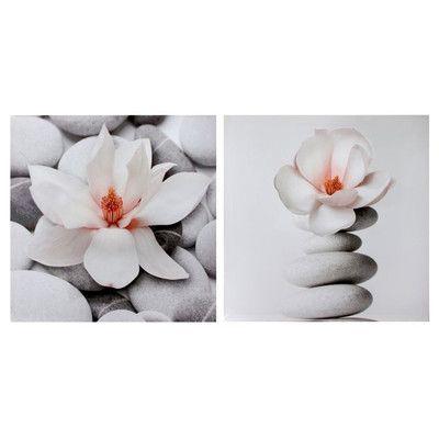 Regency International 'Zen Magnolia' 2 Piece Photographic Print on Canvas Set
