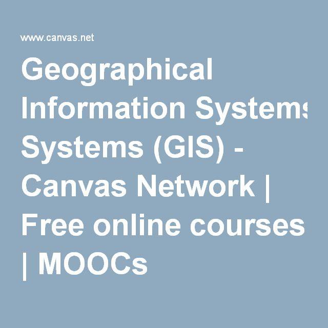 Geographical Information Systems Gis Canvas Network Free Online Courses Moocs Free Online Courses Moocs Johnston County
