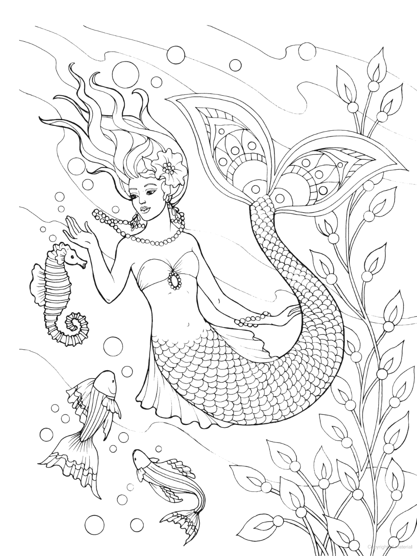 Creative Haven Mermaids Coloring Book Mermaid Coloring Book Mermaid Coloring Pages Mermaid Coloring