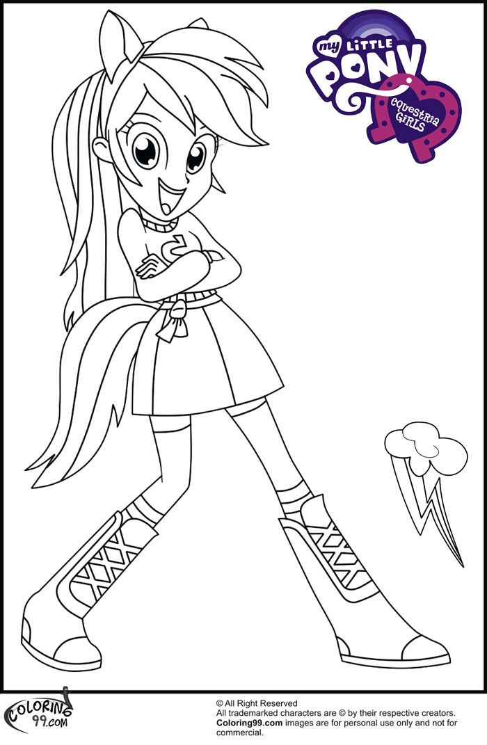 Coloring Pages Of My Little Pony Equestria : Mlp equestria girls coloring pages free printable