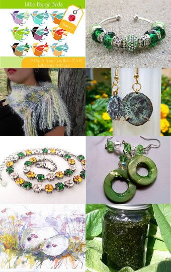 Green Dream FWB Round 70 by Jacquie Summer on Etsy--Pinned with TreasuryPin.com