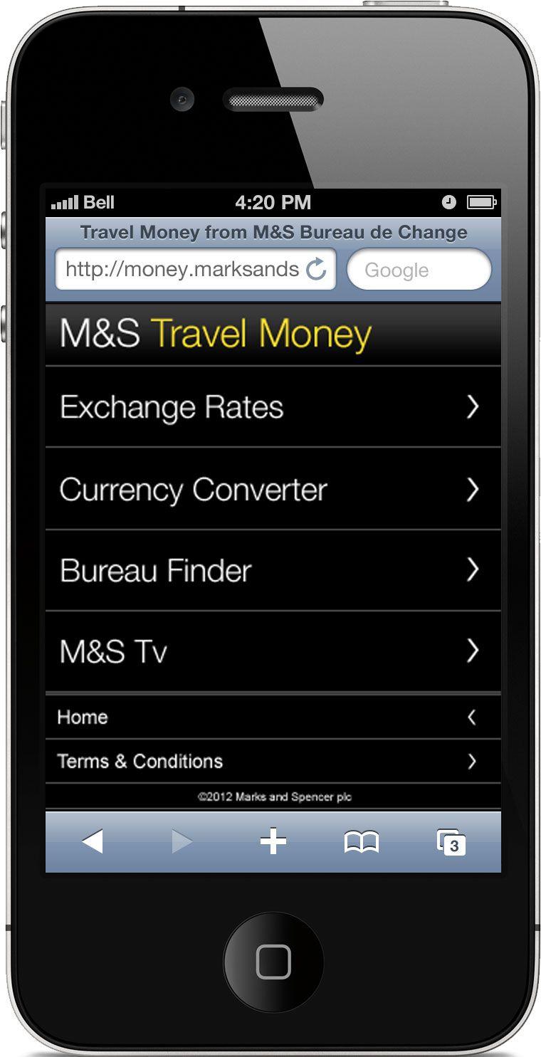 M Travel Money Mobile Site Home