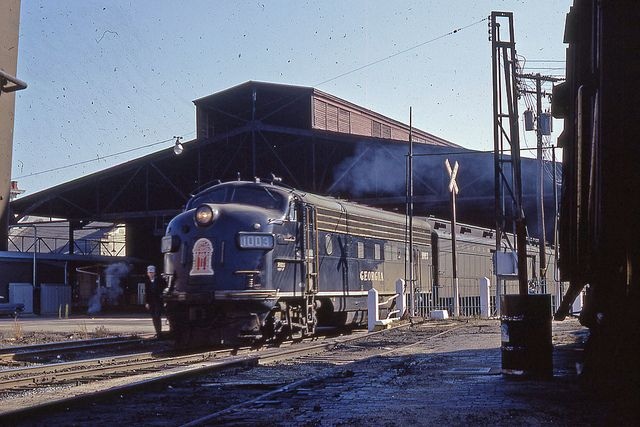 Georgia RR passenger train at Union Station, Augusta GA 1967