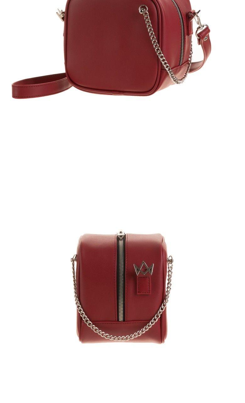 Atemstudio아텀스튜디오 Cuto Chain Shoulder Bag Burgundy Bags Shoulder Bag Chain Shoulder Bag