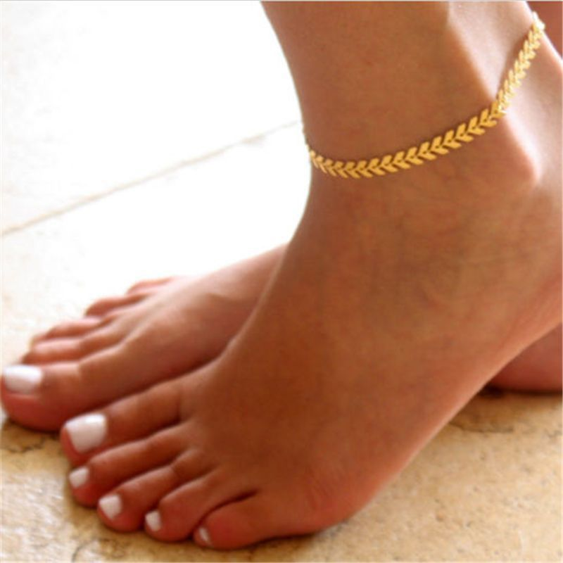 Women Gold Plated Ankle Chain Anklet Bracelet Foot Jewelry Sandal Beach \