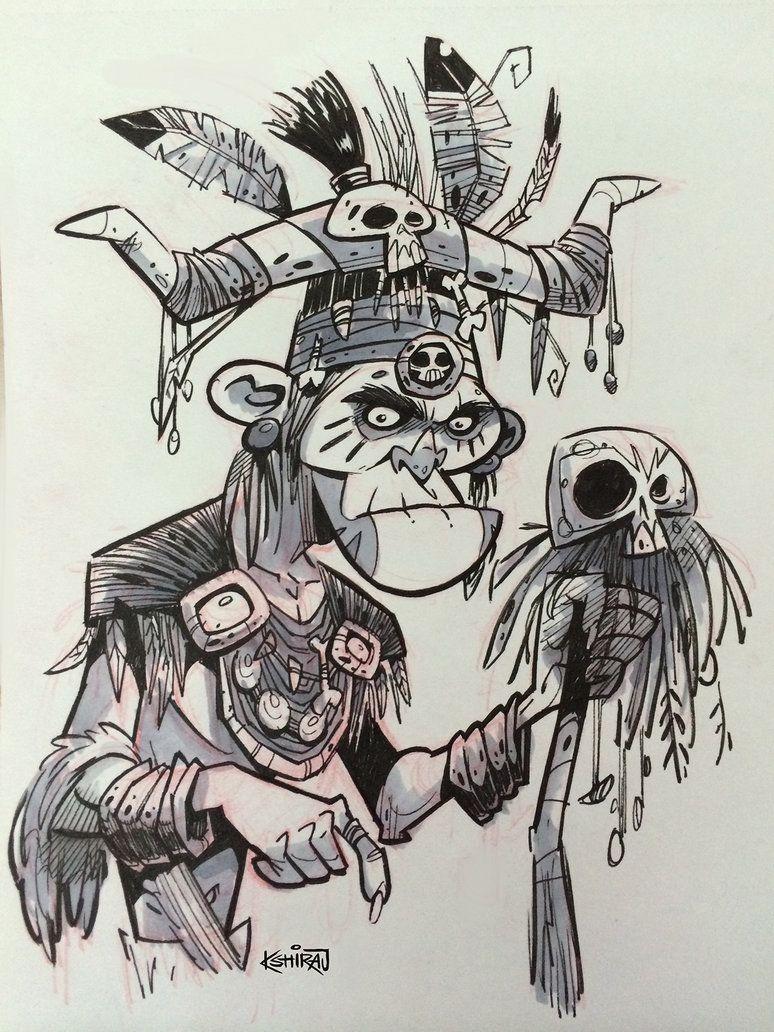 SketchBomb - New Delhi #2 : Witch Doctor by kshiraj on