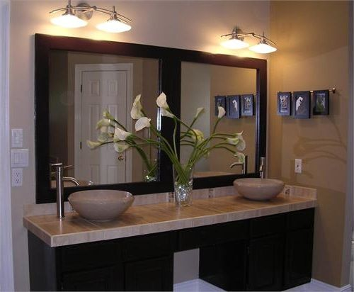 Double Frame And Mirror Bathroom Vanity