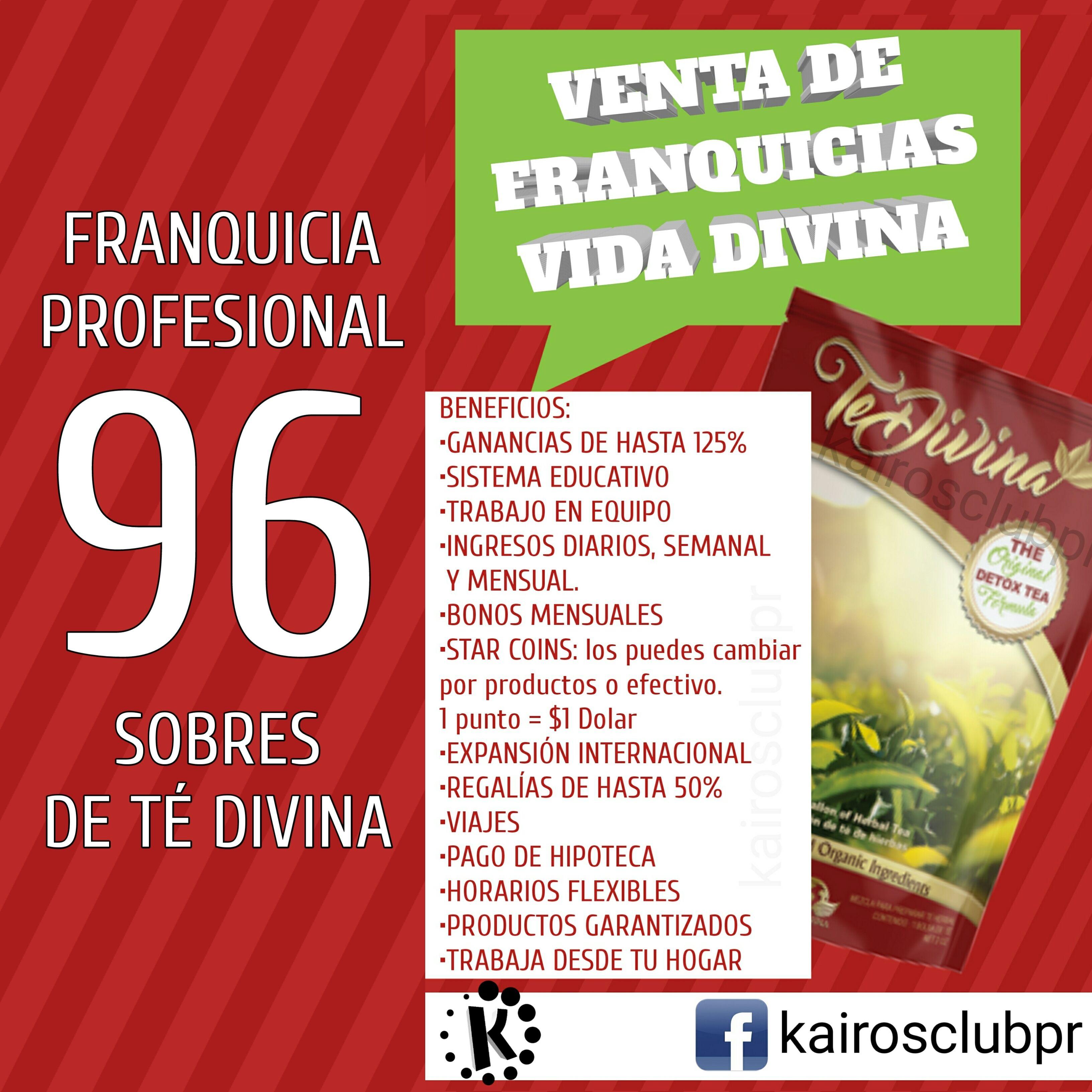 96 sobres de Té Divina | Shop this product here: http://spreesy.com ...