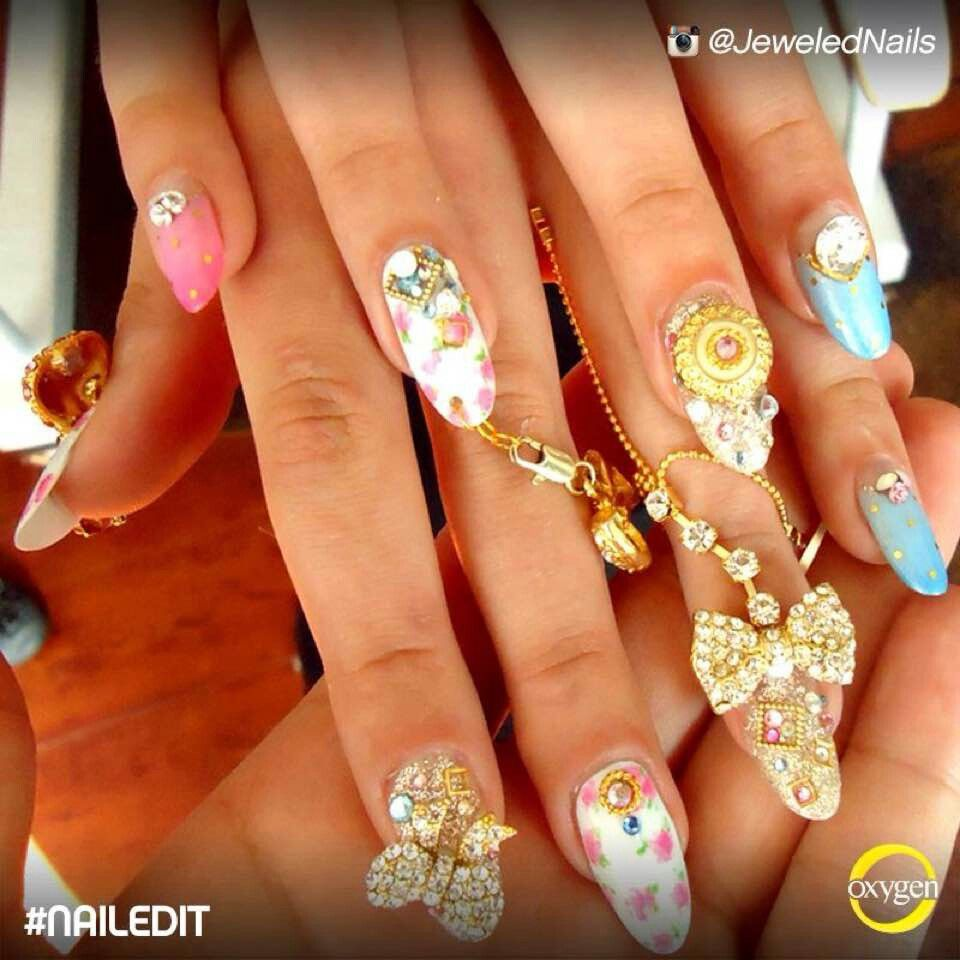 Nail Art With Charms