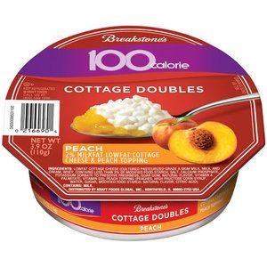 Breakstone S 100 Calorie Peach Cottage Doubles 3 9 Oz Breakfast Under 200 Calories 100 Calories 200 Calories
