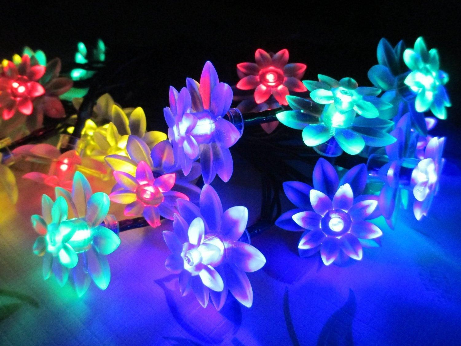 Decoration solar lights solar flower string lights fairy 20 led decoration solar lights solar flower string lights fairy 20 led blossom outdoor light for garden aloadofball Gallery